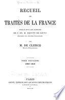 Recueil des traités de la France
