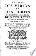 Recueil des vertus de Mad. la Baronne de Neuvillette