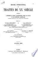 Recueil international des traités du XXe siècle