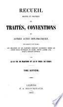Recueil manuel et pratique de traités et conventions
