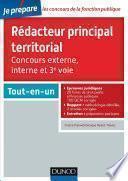 Rédacteur principal territorial - Concours externe, interne et 3e voie