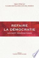 Refaire la démocratie