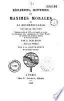 Réflexions, sentences et maximes morales de La Rochefoucauld