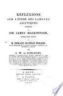 Réflexions sur l'étude des langues asiatiques adressées à Sir James Mackintosh