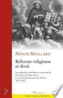 Réforme religieuse et droit : la traduction juridique et structurelle du retour à l'observance