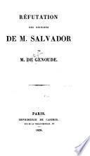 Réfutation des opinions de M. Salvador