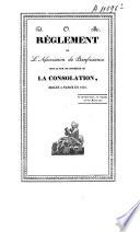 Règlement de l'association de bienfaisance sous le nom de confrérie de la consolation, érigée à Namur en 1820
