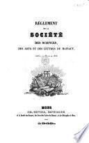 Réglement de la Société des sciences des arts et des lettres du Hainaut