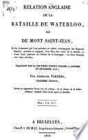 Relation anglaise de la bataille de Waterloo ou de Mont Saint-Jean