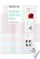 Rentrée littéraire Belfond français 2014 extraits