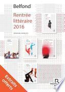 Rentrée littéraire Belfond Français 2016 - extraits