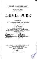 Répertoire de chimie pure