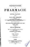 Répertoire de pharmacie