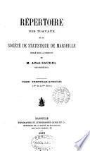 Répertoire des travaux, publ. sous la direction de P.-M. Roux