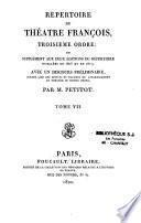Répertoire du théâtre françois, 3e ordre ou supplément aux deux éditions du répertoire publiées en 1803 et en 1817