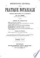 Répertoire général de la pratique notariale