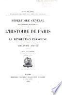 Répertoire général des sources manuscrites de l'histoire de Paris pendant la révolution français: Assemblée legislative (1.-4. ptie.)