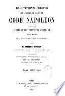 Répétitions écrites sur ...le Code Napoléon