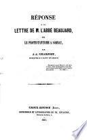 Réponse à la Lettre de M. l'abbé Beaujard sur le protestantisme à Sornay