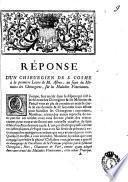 Réponse d'un Chirurgien de S. Cosme à la premiere Lettre de M. Astruc, au sujet du mémoire des chirurgiens, sur les maladies veneriennes