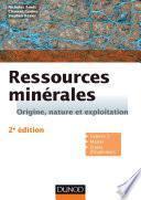Ressources minérales - 2e éd.