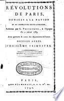 Révolutions de Paris