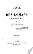 Revue analytique et critique des romans contemporains