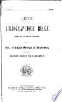 Revue bibliographique belge