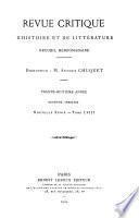 Revue critique d'histoire et de littérature