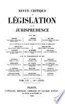 Revue critique de législation et de jurisprudence