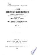 Revue d'histoire ecclésiastique