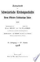 Revue d'histoire ecclésiastique suisse