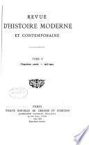 Revue d'histoire moderne et contemporaine