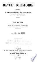 Revue d'histoire rédigée à l'État-major de l'armée