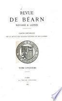 Revue de Bearn, Navarre et Lannes