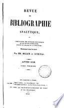Revue de bibliographie analytique, par mm. [B.E.C.] Millet et Aubenas
