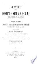 Revue de droit commercial et industriel