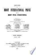 Revue de droit international privé et de droit pénal international