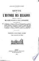Revue de l'histoire des religions