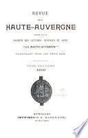 Revue de la Haute-Auvergne