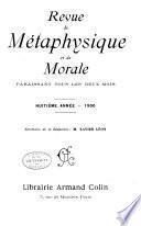 Revue de métaphysique et de morale
