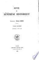 Revue de synthèse historique ...