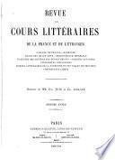 Revue des cours littéraires de la France et de l'étranger