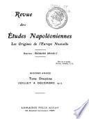 Revue des études napoléoniennes