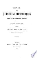 Revue des questions historiques