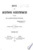 Revue des questions scientifiques
