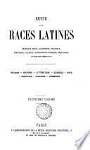 Revue des races latines [formerly Revue espagnole, portugaise, brésilienne et hispano-américaine].
