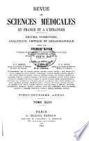 Revue des sciences médicales en France et a ̀l'étranger