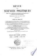 Revue des sciences politiques