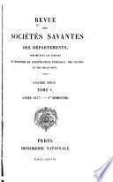 Revue des sociétés savantes des départements